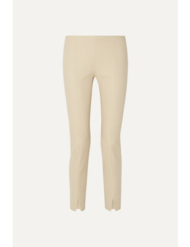 Sorocco Cotton Blend Slim Leg Pants by The Row