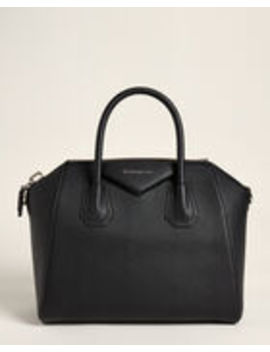 Black Antigona Small Leather Satchel by Givenchy