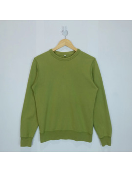 Vintage 90's Uniqlo Green Army Military Sweatshirts Jumper by Uniqlo  ×  Vintage  ×