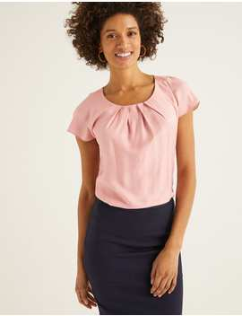 Ravello Top   Chalky Pink by Boden