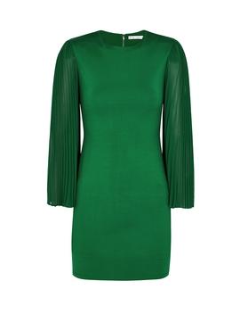 Zaya Green Stretch Jersey Mini Dress by Alice + Olivia