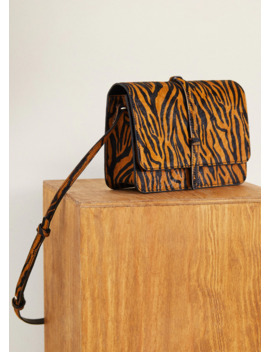 Leren Tas Met Animal Print by Mango