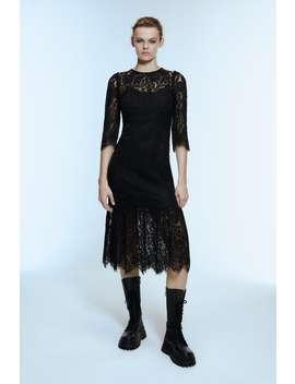 Koronkowa Sukienka Średniej DŁugoŚci by Zara