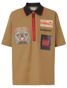 Short Sleeve Montage Print Cotton Shirt by Burberry