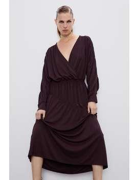 Sukienka Z WykoŃczeniem W GumkĘ by Zara