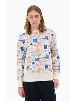 Reverse Weave Sweatshirt Im Traditionslook Mit Label Print by Champion