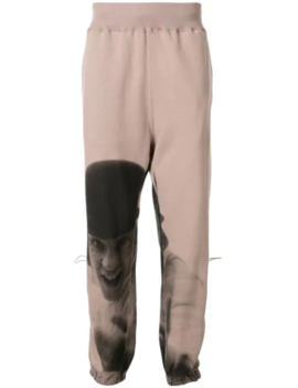 Graphic Track Pants by Undercover