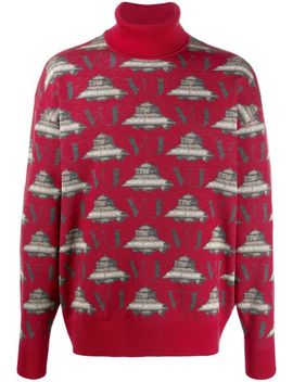 Turtle Neck Embroidered Sweater by Undercover