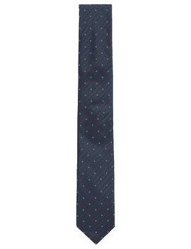 Patterned Silk Tie With Logo Motif Jacquard Patterned Silk Tie With Logo Motif Jacquard by Boss