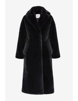 Sasha Faux Fur Coat   Black by Orchard Mile