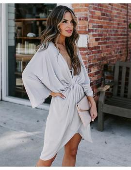 Friends And Lovers Satin Dress   Silver by Vici