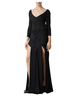 Anatori Woven Knit Gown by Burberry