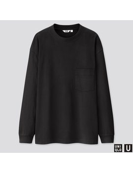 Uniqlo U T Shirt Gauffré Col Rond Manches Longues Homme by Uniqlo
