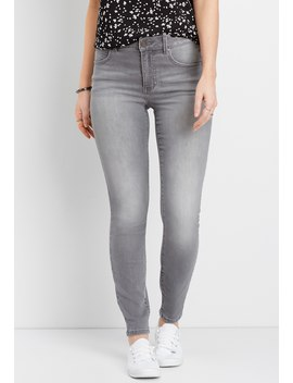 Everflex™ Gray High Rise Stretch Skinny Jean by Maurices
