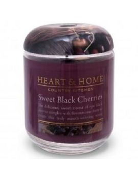 Candle Sweet Black Cherries In Jar Heart &Amp; Home Large 80 Hours Fruity Scent by Ebay Seller
