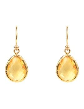 Petite Drop Earring Gold Citrine Hydro by Latelita