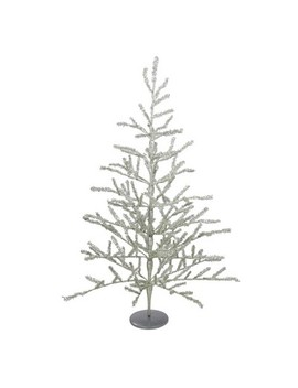 Northlight 3' Unlit Artificial Christmas Twig Tree Full Champagne Tinsel by Northlight