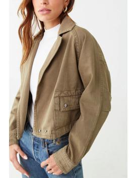 Seamed Denim Jacket by Forever 21