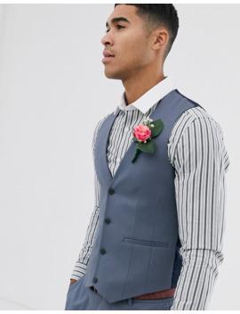 Asos Design Skinny Suit Waistcoat In Slate Grey by Asos Design
