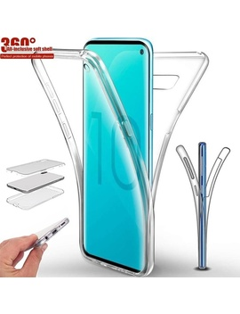 Touch Screen Silicone Clear 360 Full Body Protector Case Samsung A10 A20 A20 E A30 A40 A50 A60 A70 S10 S10 Plus S10 E A6 A7 A8 A9 2018 Huawei P30lite P30 Pro Mate 20 Pro 20 Lite P Smart 2019 P20 Pro P20 Lite by Wish