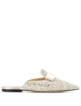 Gala Glitter Slippers by Jimmy Choo