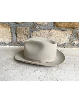 Vintage Stetson Moose River Ll Bean Tan Silverbelly Tan Fur Felt Fedora Hat Size 7 3/8 Medium Large Open Road Style Western Hipster by Etsy