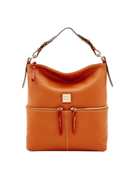 Dooney & Bourke Pebble Grain Zipper Pocket Sac Shoulder Bag (Introduced By Dooney & Bourke In May 2017) by Dooney & Bourke