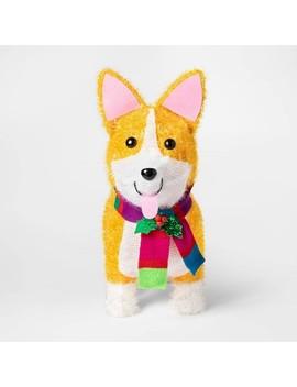 Christmas Incandescent Tinsel Corgi Dog Novelty Sculpture With 50 Lights   Wondershop™ by Wondershop