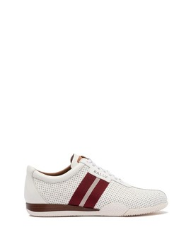 Leather Perforated Sneaker by Bally