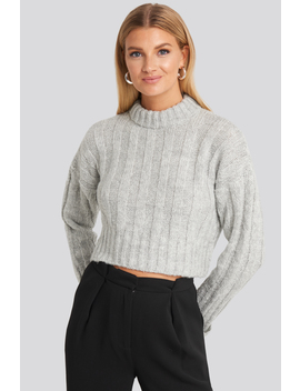 Crop Sweater Grey by Trendyol