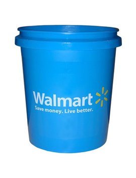Encore Save Money Live Better Walmart Bucket, Blue, 5 Gallon by Generic