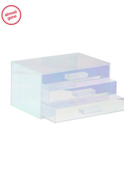 Iridescent 3 Drawer Beauty Organizer by Tj Maxx