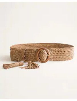 Woven Circular Buckle Belt by Chico's