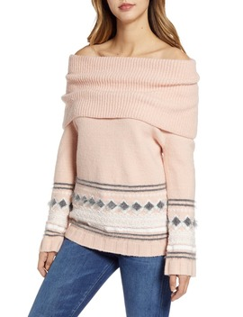 Fair Isle Convertible Cowl Neck Sweater by Caslon®
