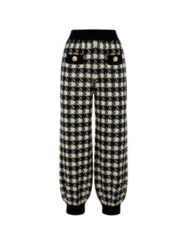 Houndstooth Check Track Sweatpants by Gucci
