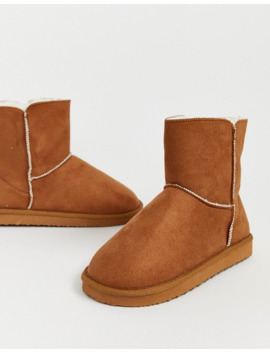 Asos Design Zoom Boot Slippers In Chestnut by Asos Design