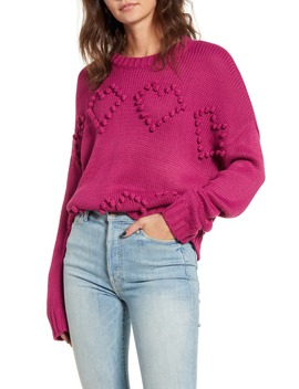 Heart Bobble Sweater by Cotton Emporium