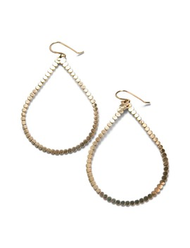 Teresa Lane Jewelry Beaded Teardrop Hoop Earrings by Teressa Lane Jewelry