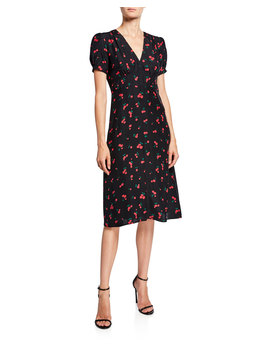 Paula Deep V Neck Dress by Hvn