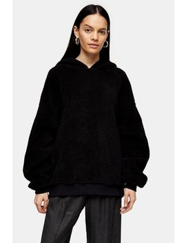 **Black Borg Hoodie By Topshop Boutique by Topshop