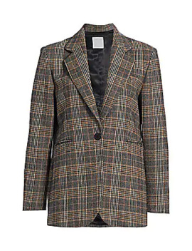 Nolane Plaid Blazer by Sandro