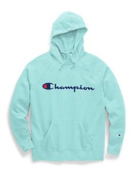 Champion Women's Powerblend® Fleece Pullover Hoodie, Script Logo by Champion