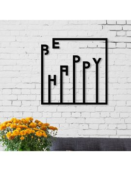 Art Series Happy Metal Wall Décor by East Urban Home
