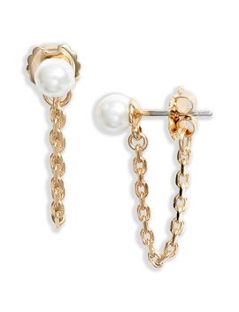Imitation Pearl Chain Drop Earrings by Halogen®
