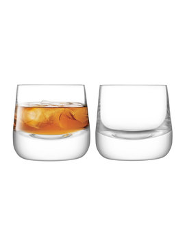 Bar Culture Whiskey Glasses, Set Of 2 by Lsa