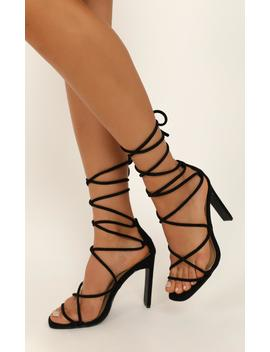 Billini   Iris Heels In Black Micro by Showpo Fashion