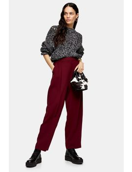 Berry Peg Trousers With Elastic Back by Topshop