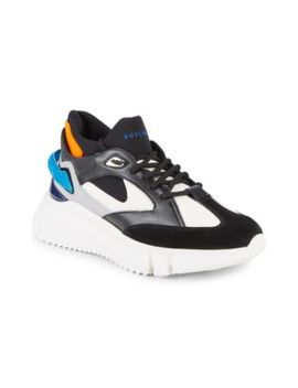 Veloce 2 Mixed Media Chunky Runners by Buscemi
