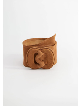 Wide Suede Belt by Mango