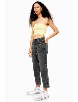 Petite Grey Editor Straight Leg Jeans by Topshop